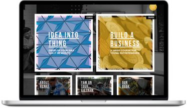 young & mighty website design