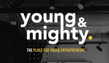 young & mighty logo design